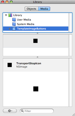 Interface Builder 3's Media Tab for Project Specific Files