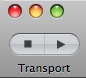 Transport with stop icon as template image.